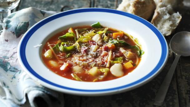 Slow cooker minestrone