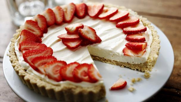 BBC Food - Recipes - Strawberry mascarpone tart