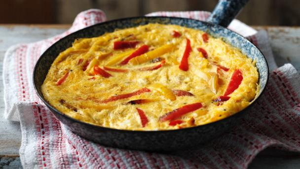 Sweet pepper frittata