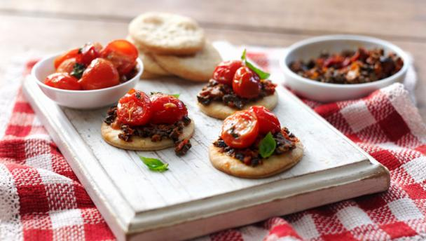 Tomato confit canap s recipe for Canape receipes
