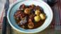 Boeuf bourguignon with baguette dumplings