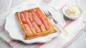 Fast rhubarb tart with mascarpone cream