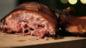 Gammon with treacle bacon crust