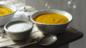 Roast squash and sweet potato soup with buttermilk blue cheese sauce