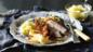 Slow-roasted pork belly with boulangre potatoes