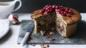 Vegetarian nut roast pie with cranberries