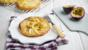 Apple and passion fruit tartlets