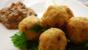 Arancini with tomato and olive tapenade 