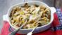Baked pappardelle with pancetta and porcini