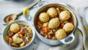 Beef stew with light herby dumplings
