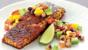 Blackened salmon with salsa