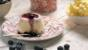 Blueberry and buttermilk panna cotta