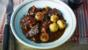 Boeuf bourguignon with baguette dumplings