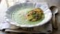 Broccoli and Stilton soup with Stilton croûtons