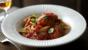 Turkey meatballs with spaghetti and tomato sauce