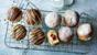 Chocolate and raspberry doughnuts