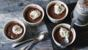 Coffee and chocolate custard pots
