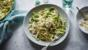 Crab and courgette pasta