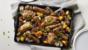 Cumberland sausage, chicken and squash traybake