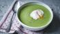 Easy spinach soup with a poached egg