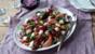Goats' cheese, peach and radicchio salad