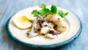 Grilled squid with lemon, garlic and cumin