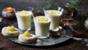 Lemon posset with lemon shortbread