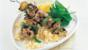 Marinated minty lamb kebabs