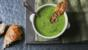 Pea and pancetta soup