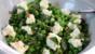 Pea, salted yoghurt and mint salad