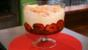 Plum and ginger trifle