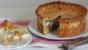 Pork pie with chicken and apricots