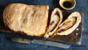 Prosciutto, mozzarella and basil stromboli