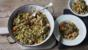 Quick sausage casserole with Savoy cabbage pesto