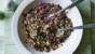 Quinoa and bulgur wheat salad with lemon and pomegranate