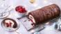 Lighter raspberry chocolate log