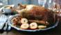 Roast goose with apples and cider gravy