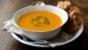 Butternut squash soup with parsley purée