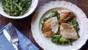 Roasted chicken breast with leek and green bean vinaigrette