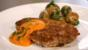 Rosé veal escalope with romesco sauce