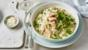 Salmon, fennel and pea risotto