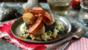 Scallops with bacon, black pudding and colcannon