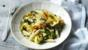 Penne with courgette flowers