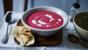 Spicy beetroot and coconut soup with herby yoghurt