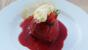 Strawberry and clotted cream summer puddings