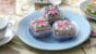 Union Jack fondant fancies
