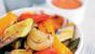 Vegetables with red pepper rouille