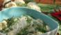 Vegetables and rice noodles in a coconut broth