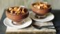 Warm chocolate and amaretto pudding