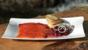Whisky-cured salmon with beetroot and blinis
